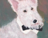 Custom impressionist painting of your pet - desk size (3x5 or 4x7)