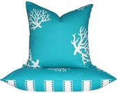 20x20 16x26 Pillow Set . Corals of the Turquoise Sea Collection