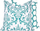 "20"" x 20"" Home Decor Pillow Cover . Turquoise Mist Collection"