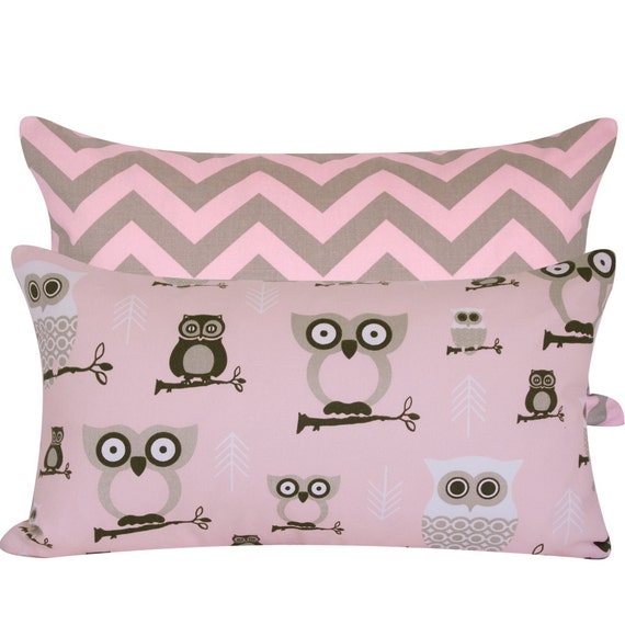 Owl Throw Pillow Covers : Owl Print Throw Pillow Cover 12x20 Bird Pillow Reversible