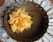 Flower Brooch and  Hair Clip in gauzy cotton...sunflower..Tangerine yellow...