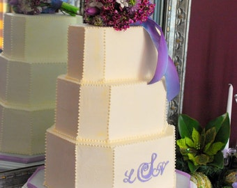 Custom Made White Rectangular Octagon Cake Stand (Custom sizes available)
