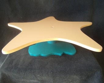 Starfish Shaped Custom Cake or Cupcake Stand with Coral Base. Size and color can be changed.