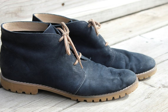 Blue Suede Etienne Aigner Ankle Boot