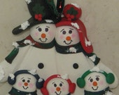 Snowman Family Ornament polymer clay adoption