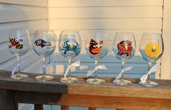 Set of 6 Maryland wineglasses