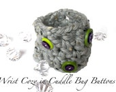 Fashionable Wrist Cozy in Cuddle Bug Buttons