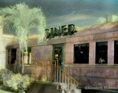 The Diner - Blank Handmade Blank Art Deco Photo Greeting Card
