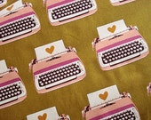 Ruby Star Shining --- Melody Miller Typewriter fabric print --- Kokka Japanese fabric --- 1/2 yard