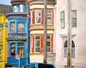 San Francisco buildings painting PRINT