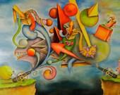 """Abstract / Surreal Print """"War"""""""