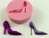 High Heel Shoe Flexible Mini Mold/Mould (25mm) for Crafts, Jewelry, Scrapbooking (resin, paper,  pmc,  polymer clay) (157)
