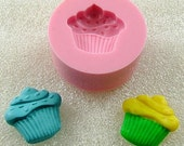 Kawaii Cupcake Flexible Mini Mold/Mould (17mm) for Crafts, Jewelry, Scrapbooking, Miniature Food (resin,  pmc,  polymer clay) (127)