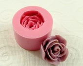 Rose Flower Flexible Mini Mold/Mould (21mm) for Crafts, Jewelry, Scrapbooking (resin,  pmc, polymer clay) (159)
