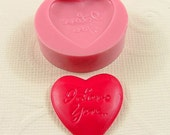 I Love You Heart Flexible Mini Mold/Mould (23mm) for Crafts, Jewelry, Scrapbooking (resin, paper,  pmc, polymer clay) (188)