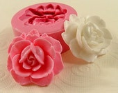 Rose Flower Mold Cabochon Flexible Silicone Mould (35mm) for Crafts, Jewelry, soap, resin, pmc,  polymer clay, fondant, chocolate (223)