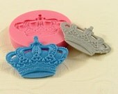 Crown Cabochon Flexible Silicone Mold/Mould (40mm) for Crafts, Jewelry, Scrapbooking, (resin,  pmc,  polymer clay) (224)