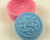 Celtic Knot Flexible Silicone Mold/Mould (46mm) for Crafts, Jewelry, Scrapbooking, (wax, soap, resin, paper,  pmc, polymer clay) (181)