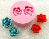 Items Similar To Rose Flower Mold Flexible Silicone Mould
