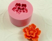 Sakura Cabochon Flower Flexible Mini Mold/Mould (22mm) for Crafts, Jewelry, Scrapbooking  (resin,  pmc,  polymer clay) (155)