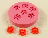 Rose Cabochon 6 cavity Flexible Silicone Mold/Mould (10mm) for Crafts, Jewelry, Scrapbooking, (resin, paper,  pmc, polymer clay) (205)