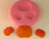 Pumpkin Mold  Flexible Silicone Mould - Crafts, Jewelry, Resin, PMC,  Scrapbooking, Polymer Clay, Push Mold (275)