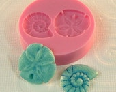 Seashell Mold Sand Dollar Nautilus Shell Flexible Silicone Mold Mould Resin Polymer Clay Jewlery Mold (277)