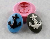 Anchor Cameo Silicone Mold Mould Nautical 40mm Resin Mold Polymer Clay Mold (280)
