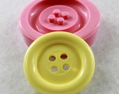 Giant Button Mold Silicone Soap Mold Mould  2 3/4 inches Resin Polymer Clay  (65mm)  (294)