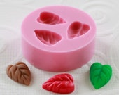 Silicone Mold Leaf Leaves Polymer clay, resin, pmc, jewelry mold mould (259)