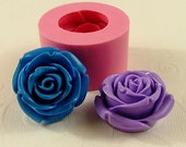 Big Bold Rose Silicone Mold Flexible Mould Chocolate, Fondant, Butter, Resin, Polymer Clay Mold, Soap Mold  (216)