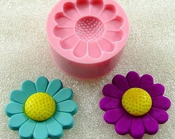 Daisy Flower Silicone Mold Flexible Mould Scapbooking Embellishment Fimo Resin Clay Utee PMC  (125)