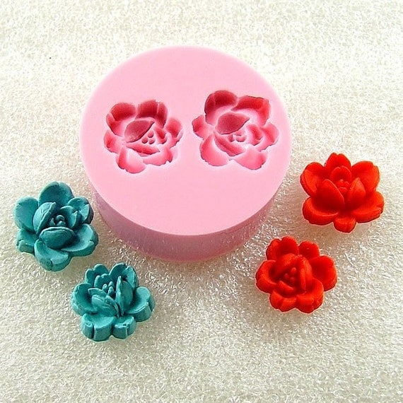 Rose Buds Cabochon Flexible Mini Mold/Mould (12mm/10mm) for Crafts, Jewelry, Scrapbooking  (wax, soap, resin, pmc, polymer clay) (106)