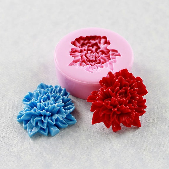 Silicone Flower Mold Mould Flexible Push Mold polymer clay, resin, pmc, jewelry, embellishment (297)