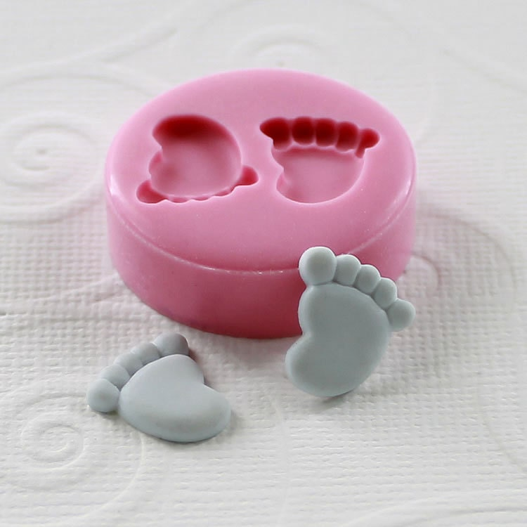 Baby Feet Flexible Mini Mold Mould 12mm For Crafts Jewelry