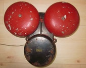 Vintage Industrial Cast Iron or School Alarm Bell Electric