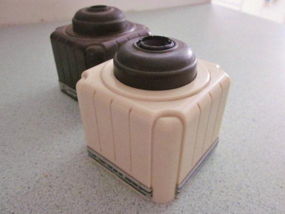Art Deco Ink Bottles Vintage Office Desk Top Pair SALE