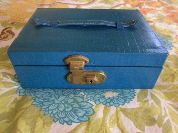 Vintage 1960s Jewelry Box With Tray