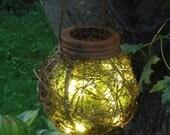 Rustic Outdoor Firefly Lantern Woodland Chic Garden Spring Summer Wedding