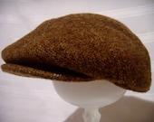 Vintage Stetson Newsboy Cap in Brown Wool