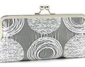 Silver Clutch Purse - Metallic Evening Bag -  Metal Frame Handbag - Bagboy