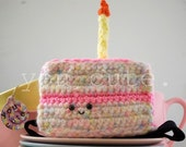 kawaii plush birthday cake headband