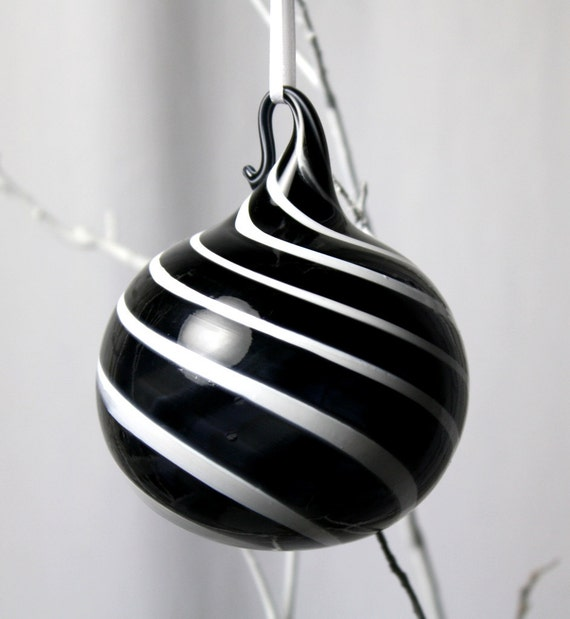 limited edition black and white ornament - number 1