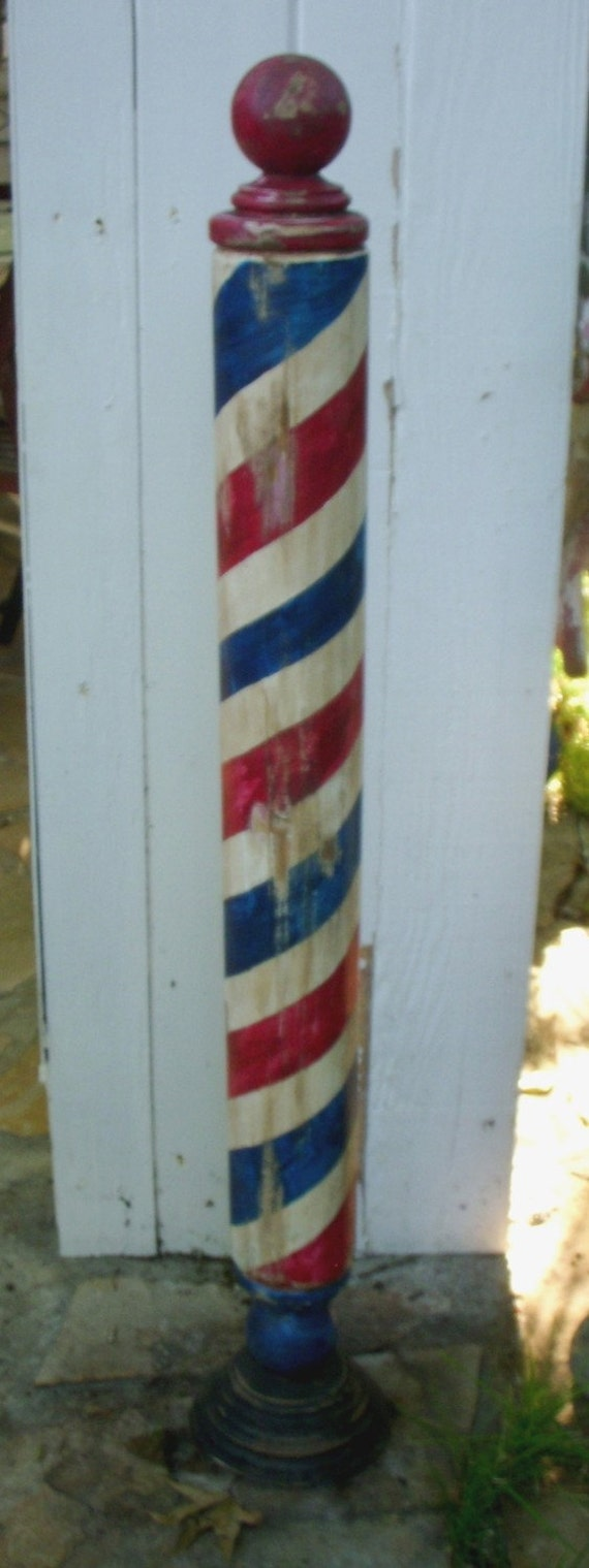 Antique Replica Handcrafted Barber Pole by Mikes Barber Poles