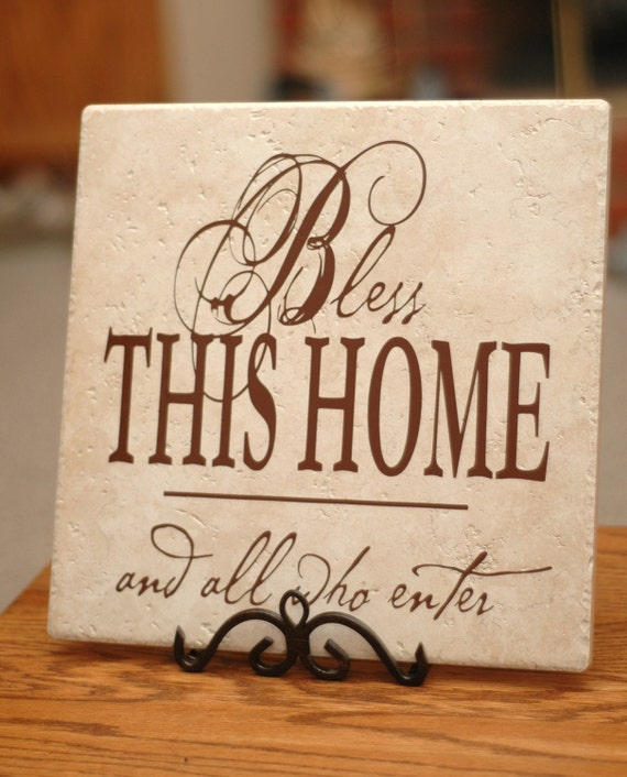 Items Similar To Bless This Home Tile Vinyl On Etsy