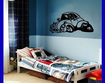Hot Rod VW Bug Wall Sticker