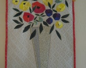 Floral Appliqued Wall Hanging