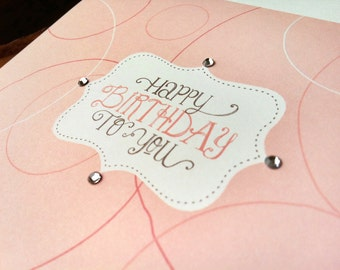 birthday to you : modern square greeting card / birthday card