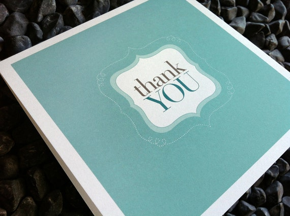 thank you : modern square greeting card / thank you card