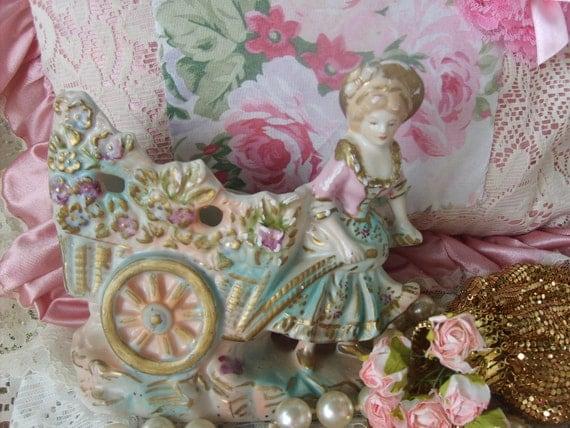 SALE....Marie Antionette  Vintage  Victorian Porcelain  Figurine      Ooh  La La    Shabby Chic